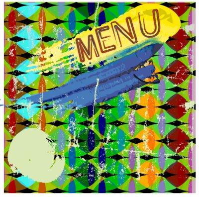 Plakat Menu, abstrakcyjny styl, kopia wolna przestrzeń