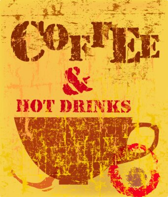 Plakat menu kawiarni, ilustracji wektorowych