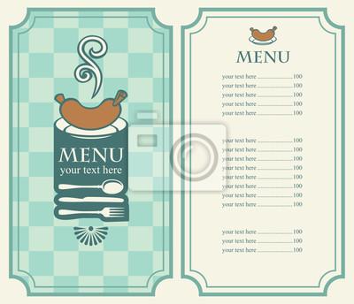 Plakat menu kiełbasy i sztućce