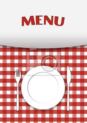 Plakat Menu Restauracji Szef Kuchni 523447