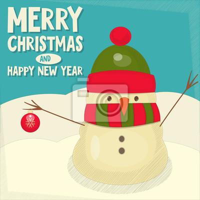 Plakat Merry Christmas karty z pozdrowieniami