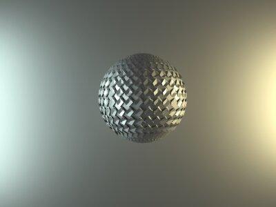 Plakat metallic sphere on a grey background