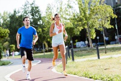 Plakat Mężczyzna i kobieta, jogging