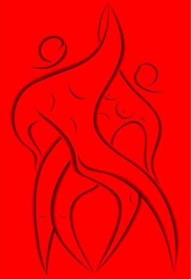 Plakat Mężczyzna i kobieta tańczy