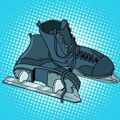 Plakat Mężczyźni łyżwy sportów zimowych
