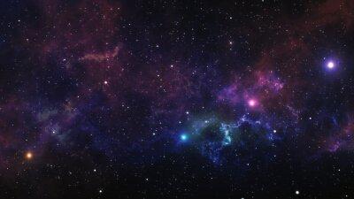 Plakat Mgławica kosmiczna. 3d ilustracji do wykorzystania w projektach dotyczących nauki, badań i edukacji.