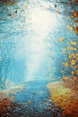 Plakat Mglisty dzień jesieni