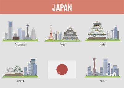 Plakat Miasta w Japonii