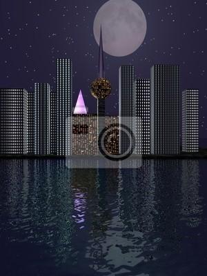 Plakat Miasto 3D