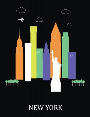 Plakat Miasto Nowy Jork. Wektor