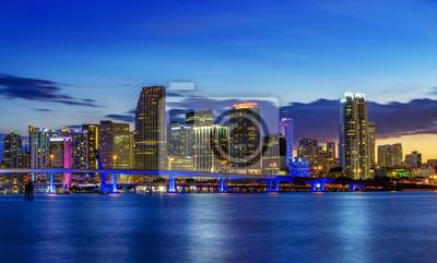 Miasto W Nocy W Miami Plakaty Redro