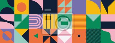 Plakat Mid-Century Abstract Vector Pattern