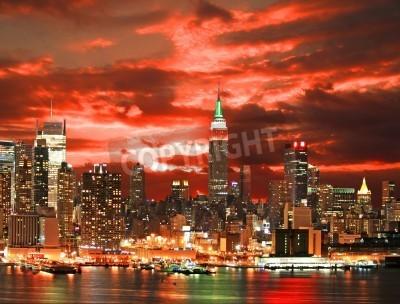 Plakat Midtown Manhattan skyline, New York City