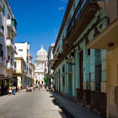 Plakat Miejski widok w Hawanie