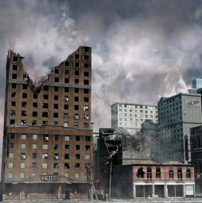Plakat Miejskie Destruction