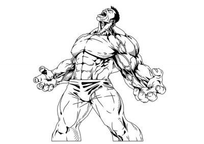 Plakat Mięśni tułowia