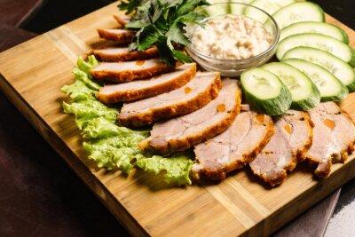 Plakat mięso przekąska