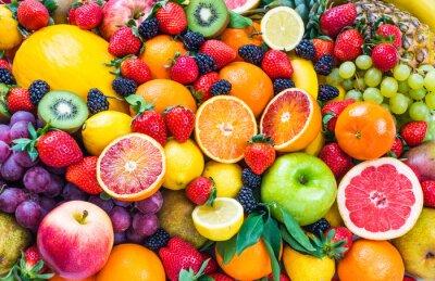 Plakat Mieszane fruits.Fruits background.Healthy jedzenie, diety.