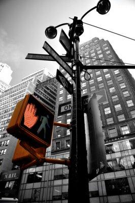 Plakat migające światła new york boradway
