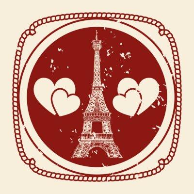 Plakat Miłość i romantyczne ikony projektowania