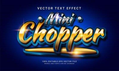 Plakat Mini chopper 3d editable text style effect