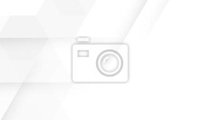 Plakat Minimal geometric white light background abstract design. vector EPS10.