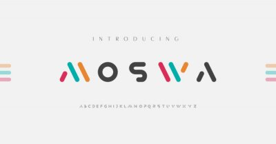 Plakat Minimal modern alphabet fonts. Typography minimalist urban digital fashion future creative logo font. vector illustration