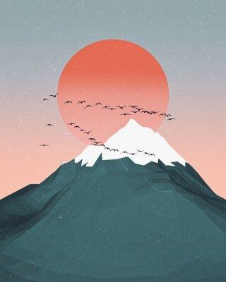 Plakat Minimal Mountains Artwork