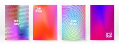 Plakat Minimal Poster. Pastel Soft. Rainbow Gradient Set