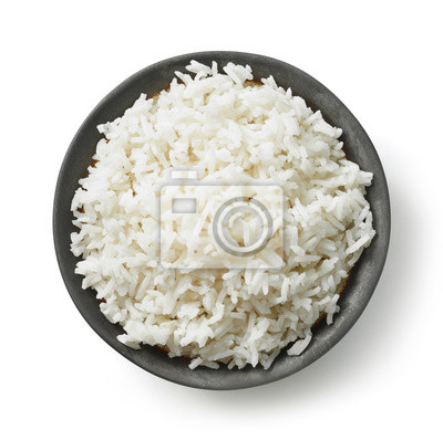 Plakat miska gotowanego ryżu