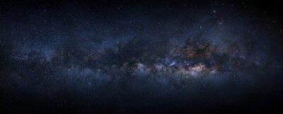 Plakat Mleczna galaktyka z gwiazdami i kosmicznym pyłem we wszechświecie