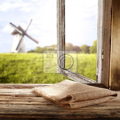 młyn i okno