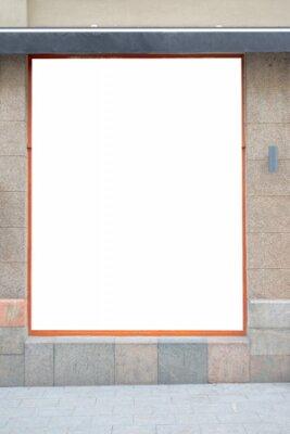 Plakat Mock up. Blank advertising billboard, signboard, store showcase window on the wall