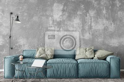 Mock Up Wnętrze ściany Styl Skandynawski Sztuka ścienna 3d Plakaty Redro