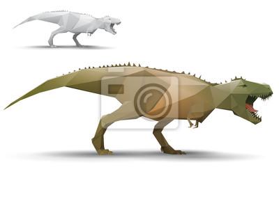 Model dinozaur stylizowane trójkąt wielokąt