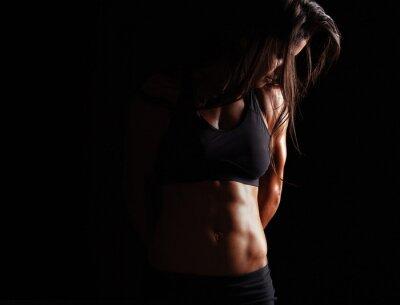 Plakat Modelka z mięśni ciała