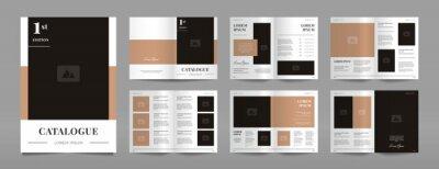 Plakat modern a4 product catalog design template