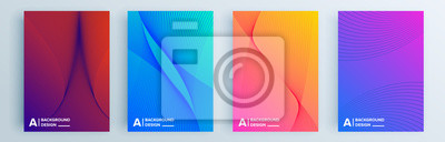 Plakat Modern abstract covers set, minimal covers design. Colorful geometric background, vector illustration.