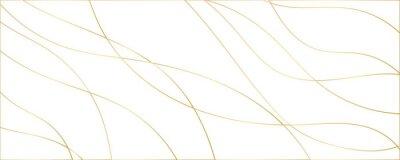 Plakat Modern abstract light gold white silver background vector. Elegant concept design with golden line.
