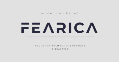 Plakat Modern alphabet fonts. Typography, Technology, Lettering, Elegant, Fashion, Designs, Serif fonts, Uppercase. Vector illustration