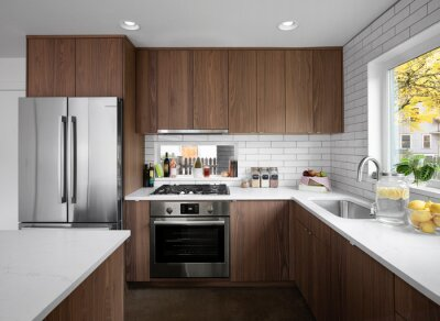 Plakat modern kitchen interior in a recently remodeled house