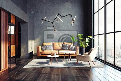 Plakat Modern living room design.
