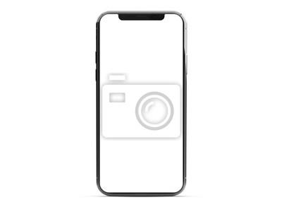 Plakat Modern smartphone mockup isolated on white 3d rendering