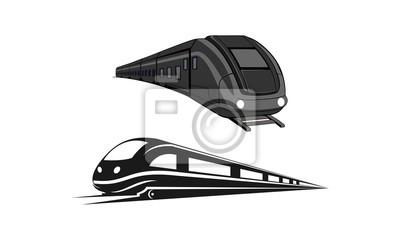 Plakat Modern train set template logo