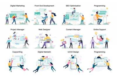 Plakat Modern web business service set. Web development