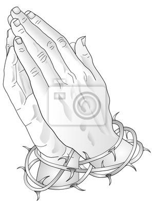 Modlący Ręce Tatuaż Szablon Plakaty Redro