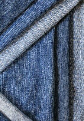 modne i stylowy teksturowanej tle z poziomej i przekątnej paski denim różnych odcieniach błękitu