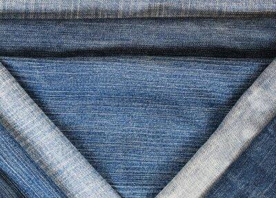 modne teksturowanej tle z poziomej i przekątnej paski denim różnych odcieniach błękitu