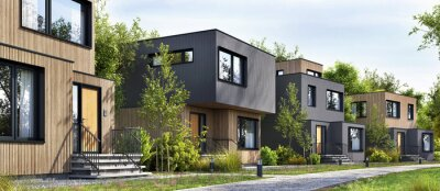 Plakat Modular homes exterior designs of modern architecture