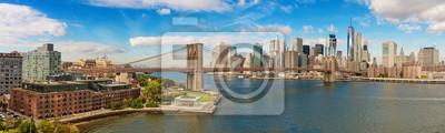 Plakat Most Brookliński i pejzaż z Nowego Jorku